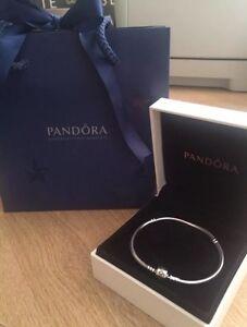 New Genuine Moments 19cm Silver Pandora Charm Bracelet - Barrel Clasp (590702HV)