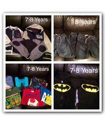 7-8 years boys large clothing bundle batman, Lego, Star Wars etc