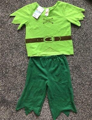 Boys Fancy Dress Robin Hood or Peter Pan Book Day BNWT Top & Shorts Age 5 to - Peter Pan Top Kostüm
