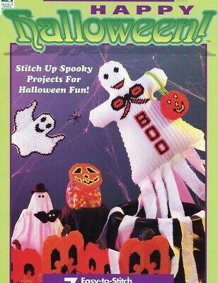 Happy Halloween Tissue Windsock Mobile, Puppet, Moon Plastic Canvas PATTERN](Halloween Windsocks Craft)