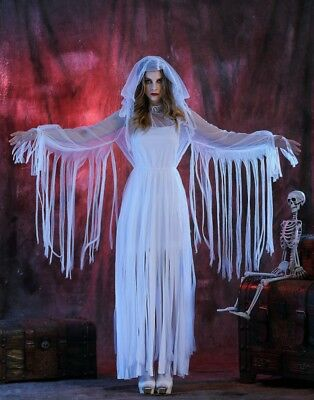 Fancy Dress Halloween Costume Corpse Bride Cosplay Mummy Ghost Wedding Dress ](Halloween Wedding Fancy Dress)