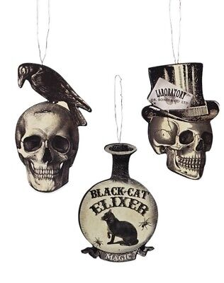 Bethany Lowe Halloween Apothecary Ornaments-- Set Of 3–Retired