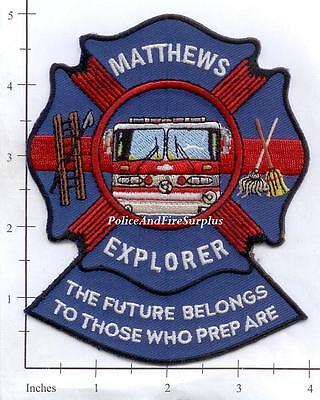 North Carolina - Matthews Fire & EMS Explorer NC Fire Dept Patch