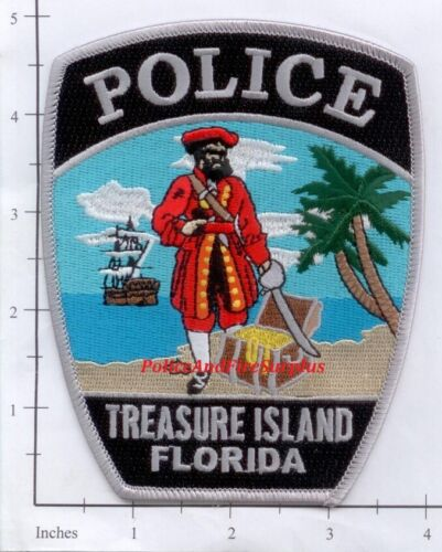 Florida - Treasure Island FL Police Dept Patch Pirate
