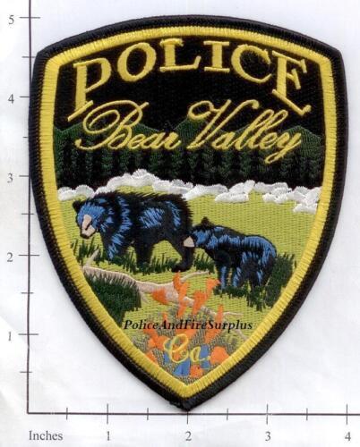 California - Bear Valley CA Police Dept Patch - 2 Bears