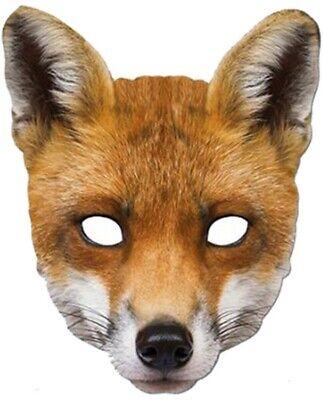 Herren Damen Fox Hund Wildes Tier Maske Welttag des Buches Kostüm Kleid Outfit ()