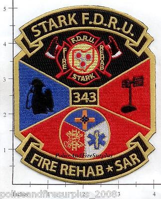 Ohio - Stark Fire Dept Rehab Unit Fire Rescue OH Fire Dept Patch 343 9-11 WTC