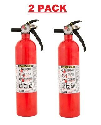 2 Pack Dry Chemical Abc Fire Extinguisher Protection Safety Emergency Equipment