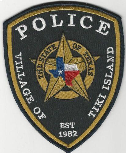 Tiki Island Police State Texas TX patch