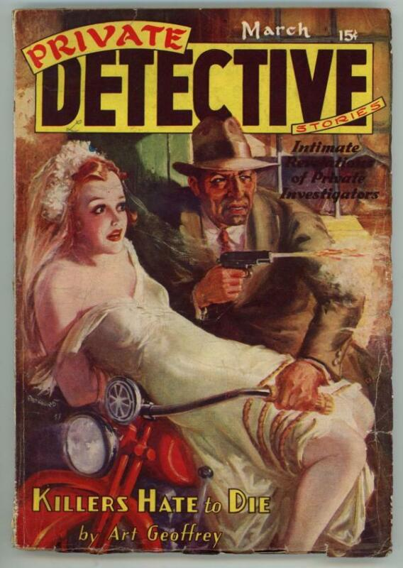 Private Detective Mar 1938 GGA Bondage Cvr Art by Parkhurst