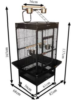 Budtrol Cage best quality bird cage 165cm with gym black