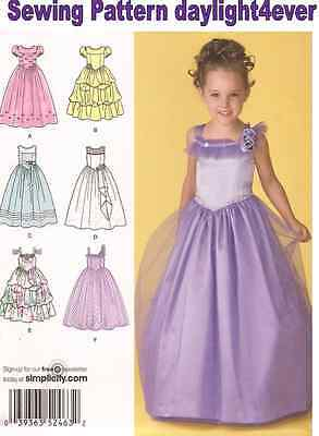 Flower Girl Pageant Party Dress Sewing Pattern 2463 NEW Princess r Size 3-4-5-6
