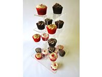 4 x 5 tier clear square cake stands