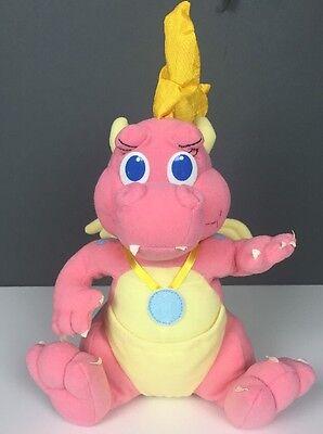 "1999 Hasbro Playskool Dragon Tales Cassie Pink Yellow Plush 9"" 30754"