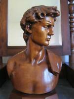 Scultura Mezzo Busto In Legno Massello David Di Michelangelo Splendido. - splendid - ebay.it