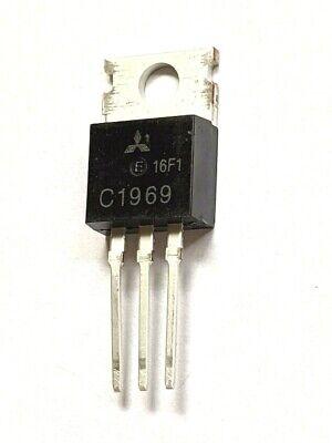 2 X Mitsubishi 2sc1969c1969 Silicon Epitaxial Npn Rf Hfvhf Transistor Newusa