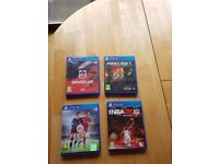 ps4 games included fifa and NBA