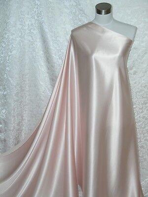 100% Silk Charmeuse Fabric Light  Pink  Per Yard