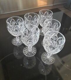 Nice set of 6 crystal wine glasses