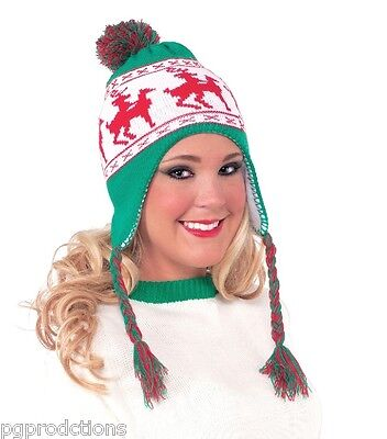 Funny REINDEER WINTER KNIT HAT Ugly Christmas Sweater Humping Deer Adult Naughty - Funny Christmas Hats Adults