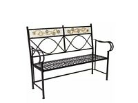 Mosaic outdoor garden bench seat new