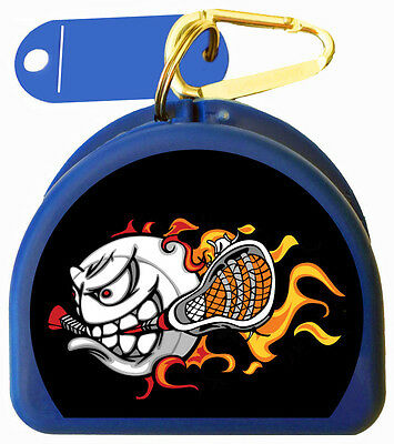 Mouth Guard Case for Lacrosse Players call Lacrosse Fire