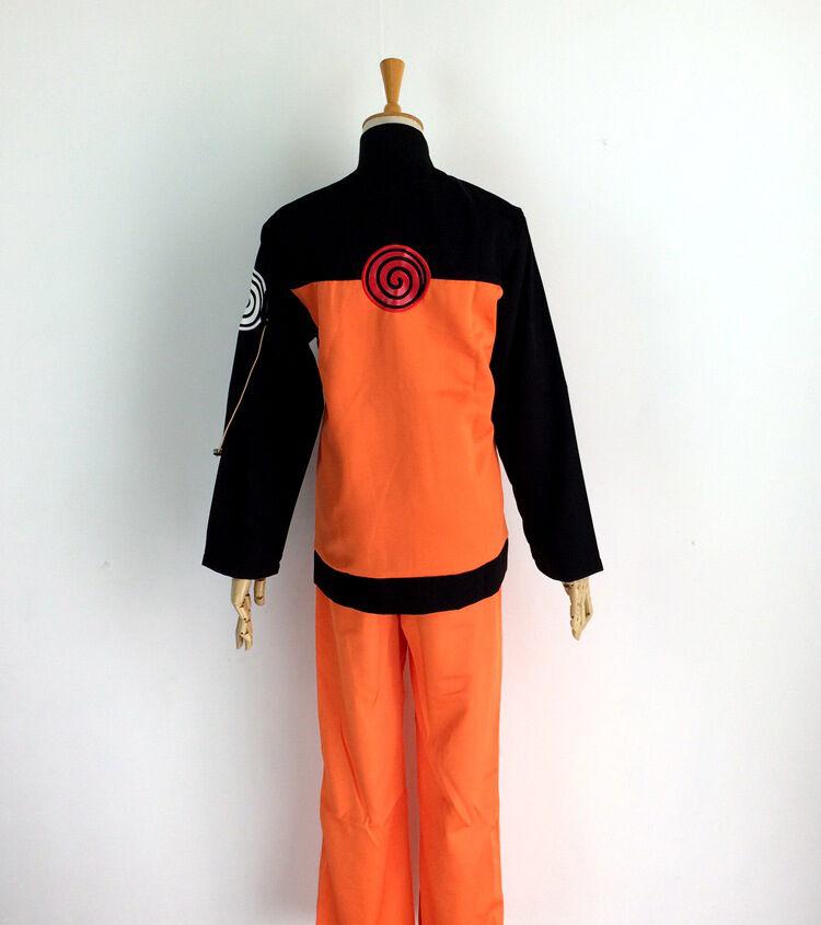 Naruto Shippuden Uzumaki Hokage Jacket+Pant Costume Suit for Cosplay  Halloween
