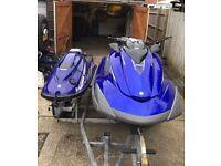 Double Jetski trailer, Yamaha, sea doo, Kawasaki, roller