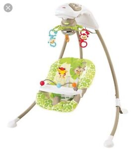 Fisher Price Rainforest Swing - Clean & In EUC