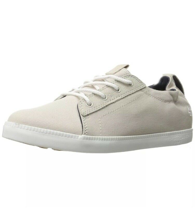 Timberland Women Flats Oxfords Newport Bay Canvas Sneakers Off White Size 9.5