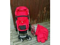 Mothercare my4 red pram buggy