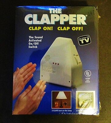 The Clapper, Wireless Sound Activated On/Off Light Switch, Clap Detection NIB