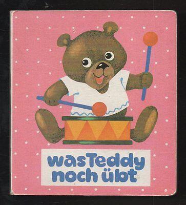 Was Teddy noch übt – Ingrid Graichen  DDR Bilderbuch 4 Bilder