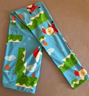 NEW!! LLR LuLaRoe OS Leggings 2018 Holiday Christmas Santa Minecraft Mario pixel