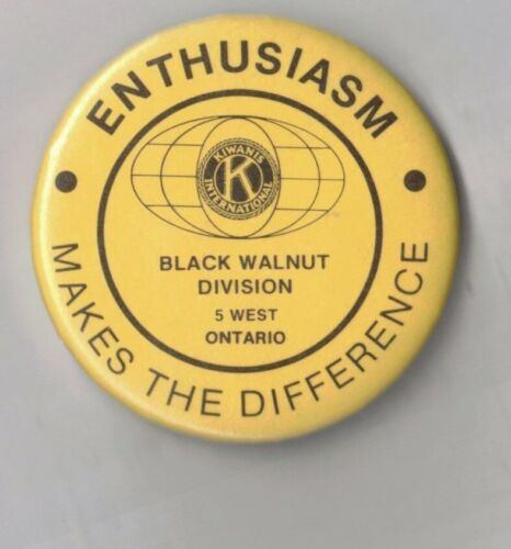 ENTHUSIASM-MAKES THE DIFFERENCE-K-KIWANIS INTERNATIONAL-TWO 1/4 INCHES WIDTH