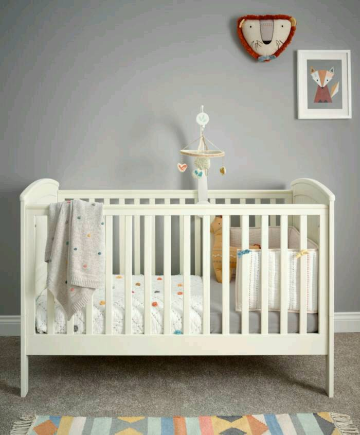 Classic Convertible Cot & Toddler Bed - Ivory Wood | in ...