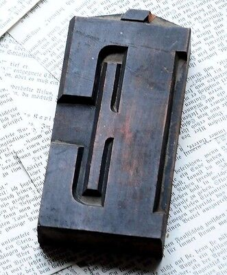 Letter Superb Wood Type 4.92 Woodtype Font Letterpress Printing Block Abc