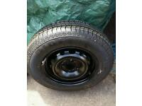 Vauxhall Corsa Spare wheel and tyre