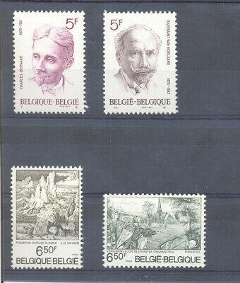 BELGIUM 1976 CULTURAL set mnh** 1828/31