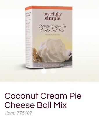 Lot Of 2-Tastefully Simple Coconut Cream Pie Cheese Ball Mix 2 - 3oz packets (Cream Pie Mix)