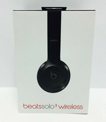Beats Solo 3 Bluetooth Wireless On Ear Headphones Gloss Black  (New)