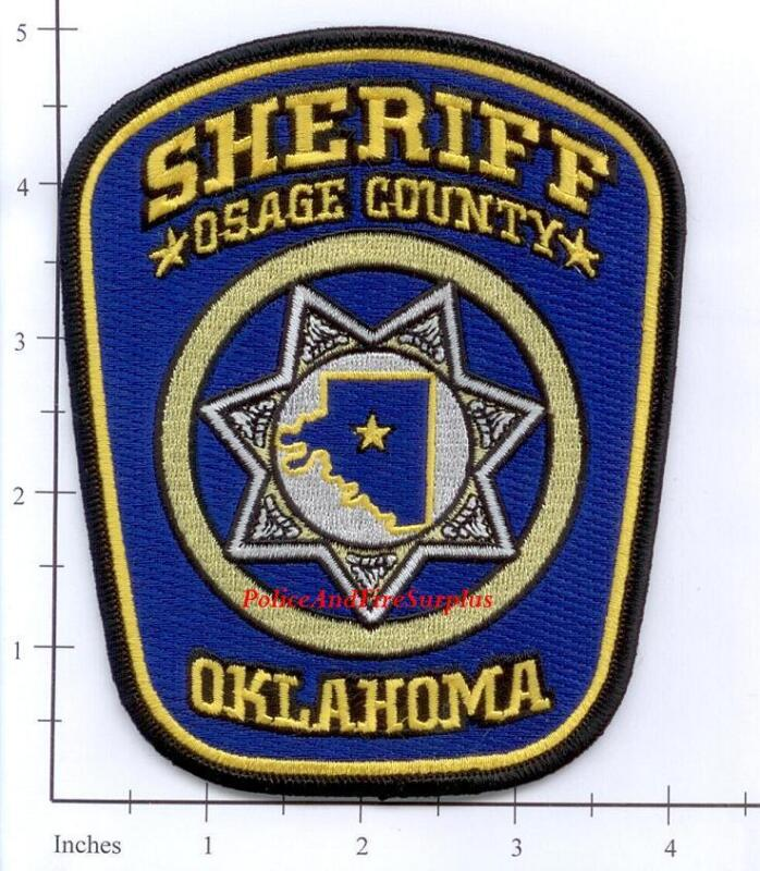 Oklahoma - Osage County OK Police Dept Patch