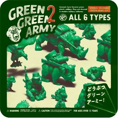 Takara Tomy Panda's ana Animals soldiers Green Army Toy P2 Completed Set 6pcs