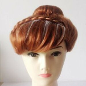 Classical Ladies Frozen Anna styled updo synthetic full hair wig UK seller NR
