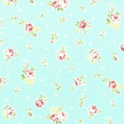 BTY Cottage Shabby Chic Lecien Flower Sugar Med Floral Bouquet 30968L-60 Teal