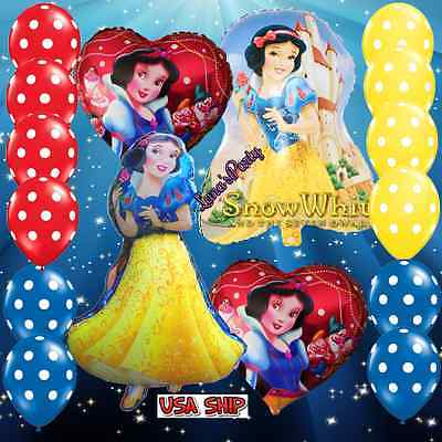 ❤ SNOW WHITE BALLOON BIRTHDAY FOIL PARTY DISNEY PRINCESS ❤ balloons decorations - Disney Princess Party Decor