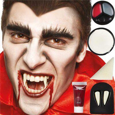 Vampire Make Up Kit - Halloween Face Paint - Vampire Dracula Zombie Fancy Dress - Halloween Dracula Face Painting