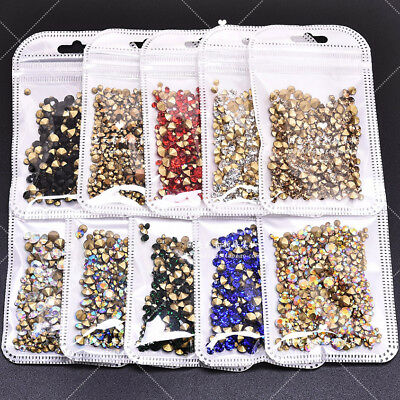 Wholesale Mixed Sizes Point back Rhinestone Crystal Glass Chatons Nail Art (Crystal Point Back Rhinestone)