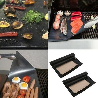 Home Use Grill Mat Cooking Outdoor Reusable Non-stick Surface Pad Safe and Handy