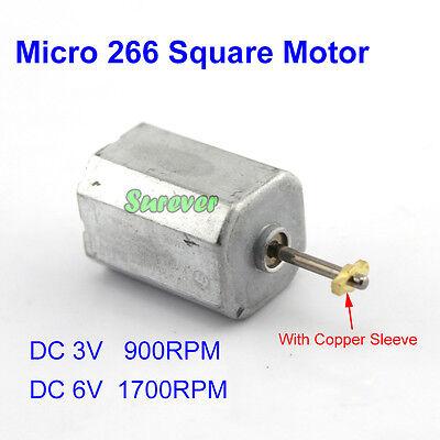 Dc 3v-9v 5v 6v 1700rpm Micro 18mm Mini 266 Square Motor 2mm Shaft Model Toy Diy